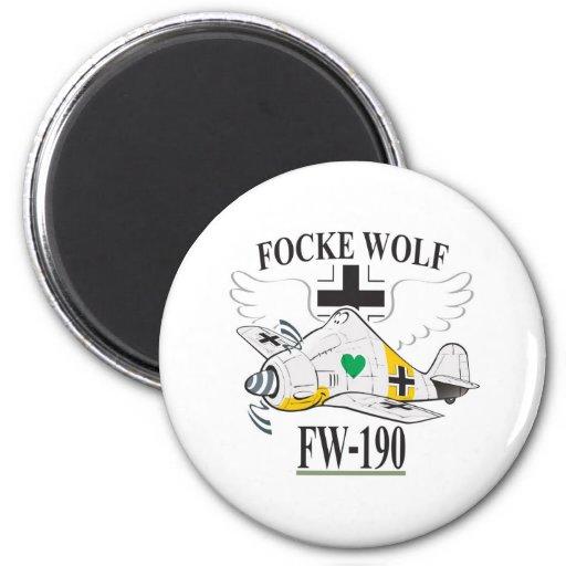 fw-190 focke wolf fridge magnets