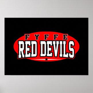 Fyffe High School; Red Devils Poster