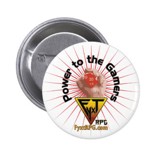 Fyxt RPG Power to the Gamers 6 Cm Round Badge