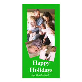 G05 Green Color Customizable Photo Card Template