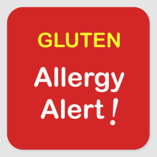 g1 - Allergy Alert - GLUTEN. Square Sticker