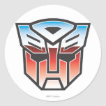 G1 Autobot Shield Colour Round Stickers