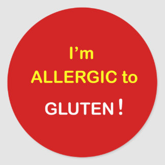 g2 - I'm Allergic - GLUTEN. Classic Round Sticker