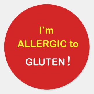 g2 - I'm Allergic - GLUTEN. Round Sticker