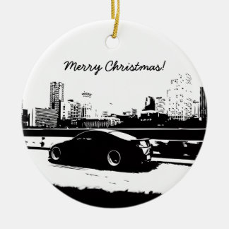 G35 Coupe Rolling shot Christmas Ornament