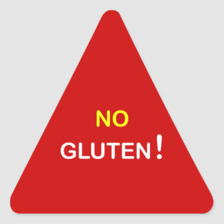 g3 - Food Alert ~ NO GLUTEN. Triangle Sticker