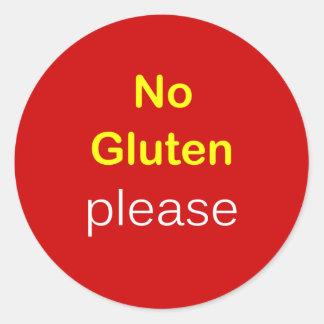 g5 - Food Request ~ NO GLUTEN PLEASE. Round Sticker