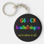 G6-C8 Handbell Ringers Key Chains