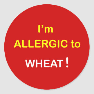 g8 - I'm Allergic - WHEAT. Classic Round Sticker