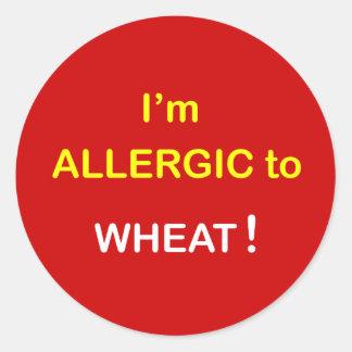 g8 - I'm Allergic - WHEAT. Round Sticker