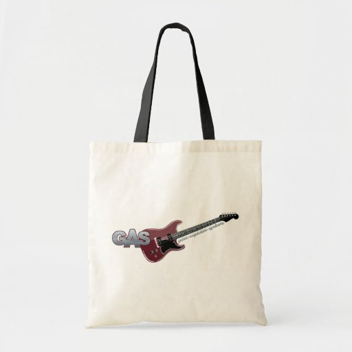 G.A.S. Red Electric Guitar Budget Tote Bag