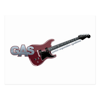 G.A.S. Red Electric Guitar Postcard