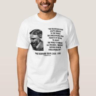G. B. Shaw Progress Depends Upon Unreasonable Man Shirts