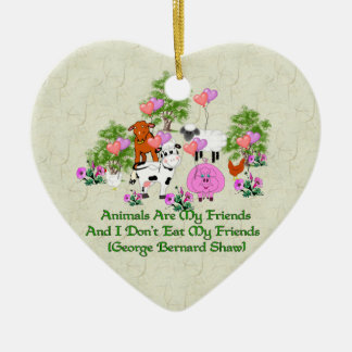 G. B. Shaw Vegetarian Quote Christmas Ornament