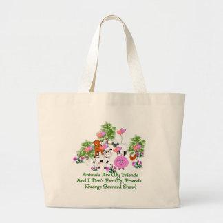 G. B. Shaw Vegetarian Quote Large Tote Bag