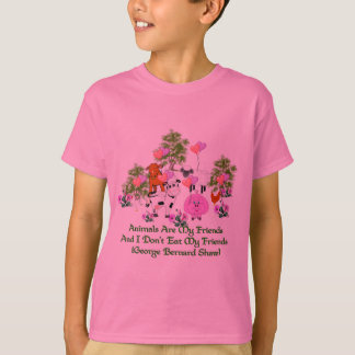 G. B. Shaw Vegetarian Quote T-Shirt