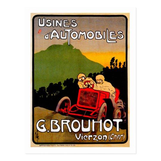 G. Brouhot ~ Vintage Paris France Automobile Postcard