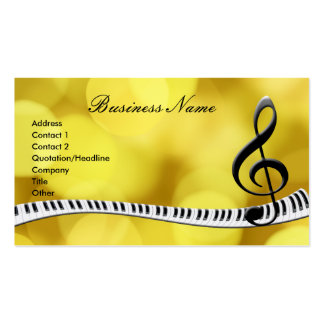 G-Clef Music Notes Business Cards