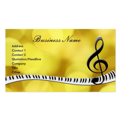 G-Clef & Music Notes Business Cards