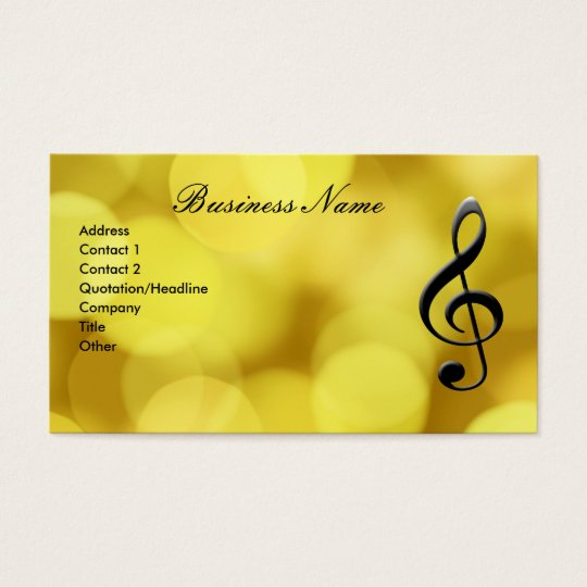 G-Clef & Piano Keyboard Business Card