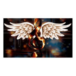 G Clef with Wings Business Card Template