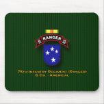 G Co, 75th Infantry - Rangers - 23d Div - Vietnam Mouse Pad