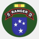 G Co, 75th Infantry Regiment - Rangers, Vietnam Round Sticker