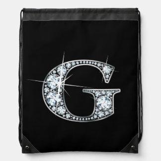 """G """"Diamond Bling"""" Drawstring Backpacks"""
