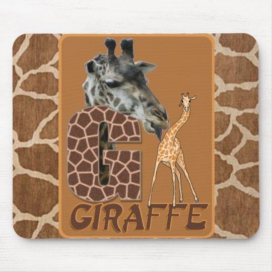 G FOR GIRAFFE MOUSE MAT