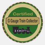 G Gauge Train Collector Stickers