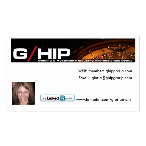 G HIP GROUP LINKED IN NETWORKING CARD BUSINESS CARDS