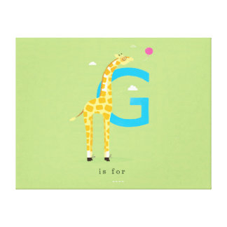 G is for... gallery wrap canvas