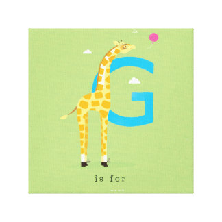 G is for... stretched canvas print