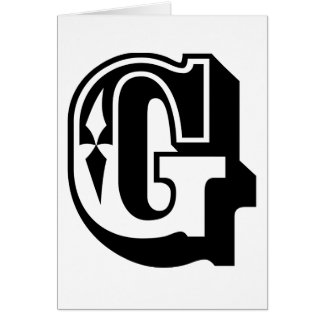 """G"" is for Gangsta - Alphabet Letter Tee Card"