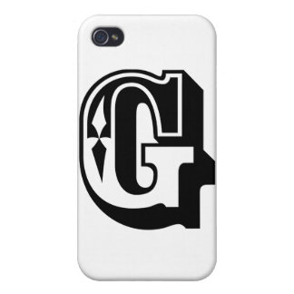 """G"" is for Gangsta - Alphabet Letter Tee Cases For iPhone 4"