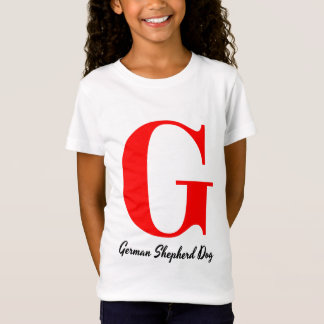 G is for German Shepherd Dog T-shirt