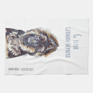 G is for German Shepherd Tea Towel