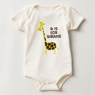 G is For Giraffe Baby Bodysuit