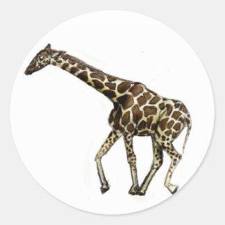 G is for Giraffe Classic Round Sticker