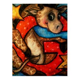 G is for Giraffe Postcard