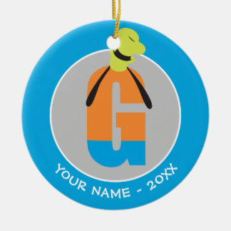 G is for Goofy | Add Your Name Christmas Ornament