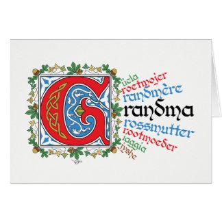 G is for Grandma Card