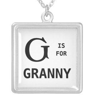 G Is For Granny Monogram Pendant Monogrammed