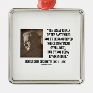 G.K. Chesterton Great Ideals Of The Past Not Lived Ornament