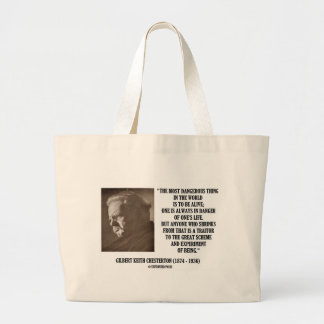 G.K. Chesterton Great Scheme Experiment Of Being Jumbo Tote Bag