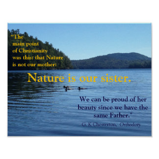 G. K. Chesterton quote about nature- poster