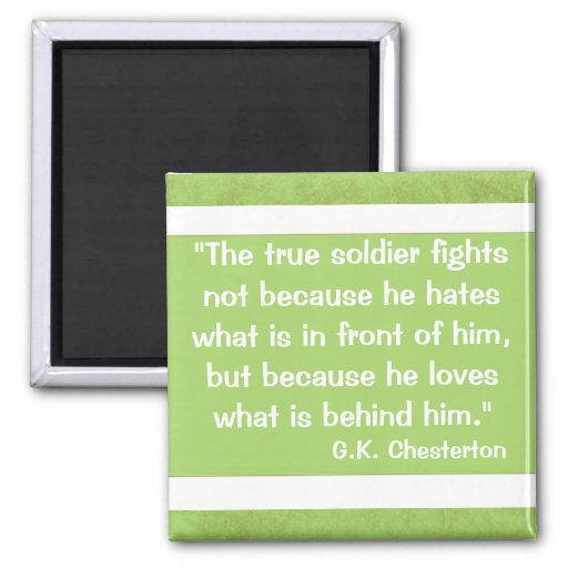 G.K Chesterton Quote Refrigerator Magnet
