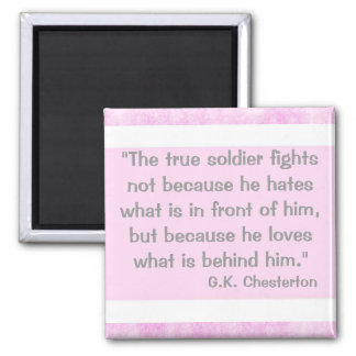 G.K Chesterton Quote Square Magnet