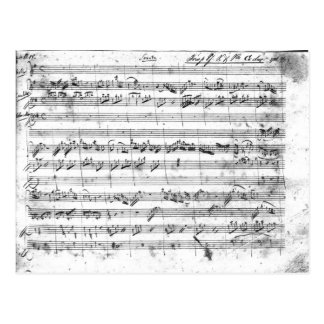 G major for violin, harpsichord and violoncello 2 postcard