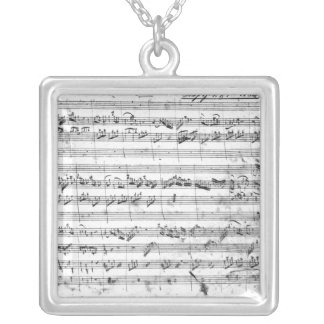 G major for violin, harpsichord and violoncello 2 silver plated necklace